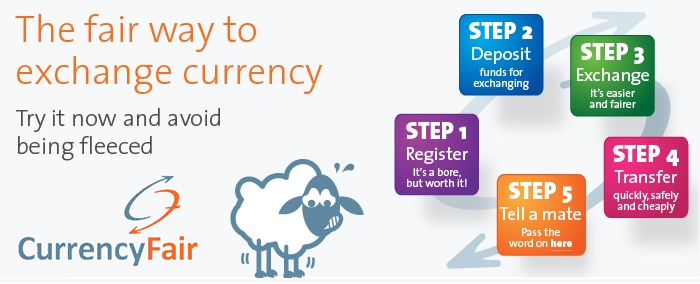 Steps to achieve a CurrencyFair transfer